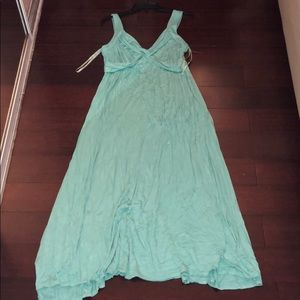 New York company long teal dress